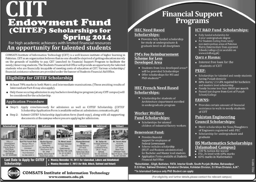 CIIT Endowment Fund 2014
