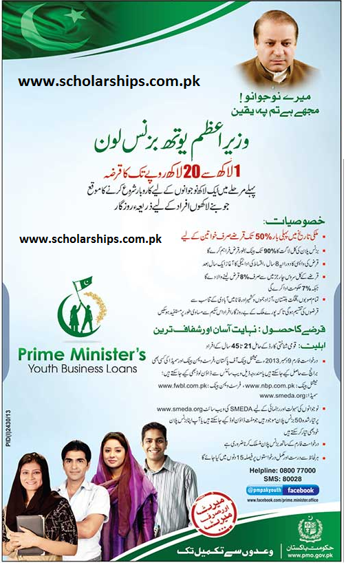Prime Minister's Youth Business Loan for Pakistani Youth