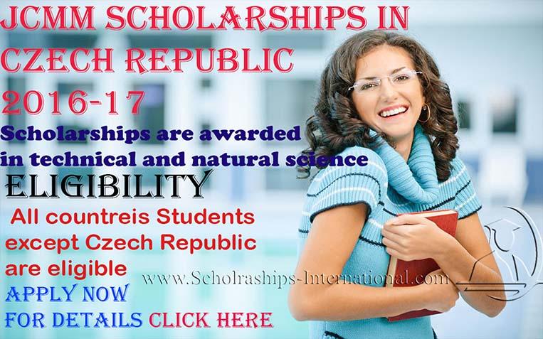 JCMM Scholarships in Czech Republic, 2016-17