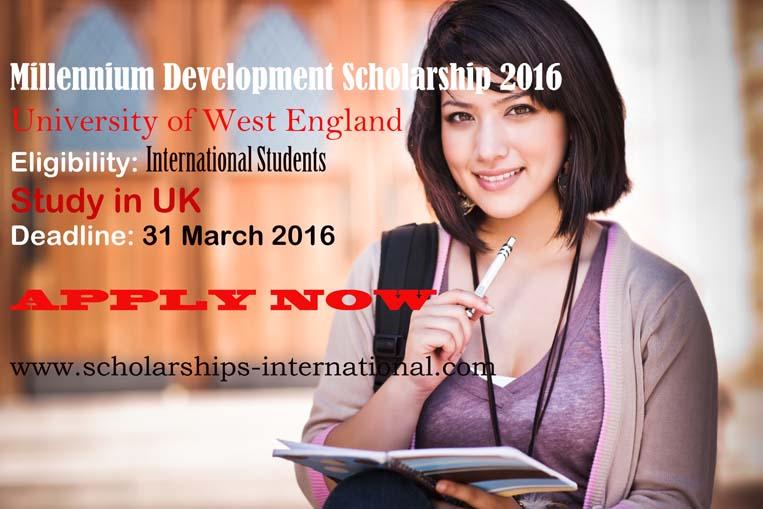 Millennium Development Scholarship UWE 2016 2017