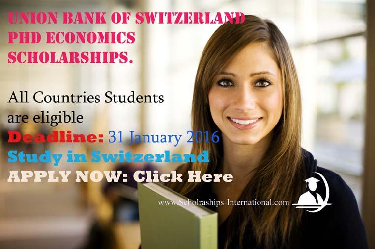 union bank of Switzerland Scholarships